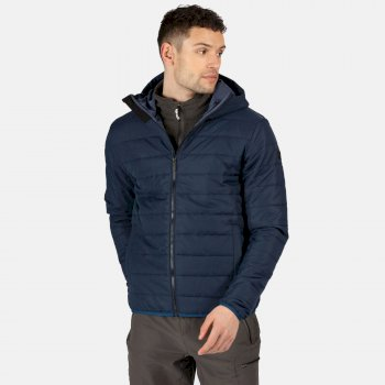 Men's Helfa Insulated Quilted Hooded Walking Jacket Nightfall Navy