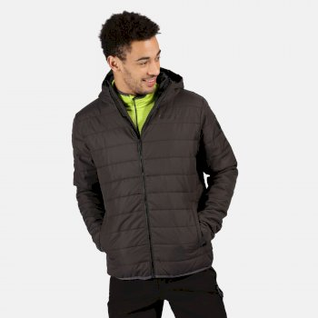 Men's Helfa Insulated Quilted Hooded Walking Jacket Ash