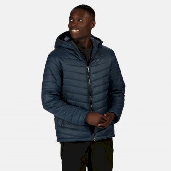 Men's Volter Loft Insulated Quilted Hooded Heated Walking Jacket Nightfall Navy