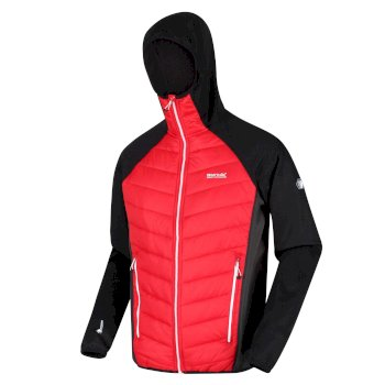 Men's Andreson V Hybrid Insulated Quilted Hooded Walking Jacket Chinese Red Ash