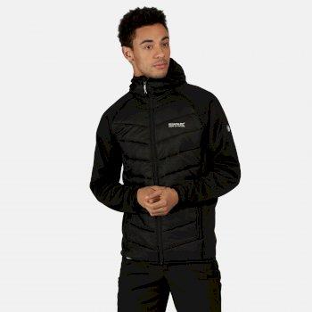 Men's Andreson V Hybrid Insulated Quilted Hooded Walking Jacket Black