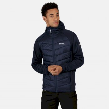 Men's Andreson V Hybrid Insulated Quilted Hooded Walking Jacket Navy