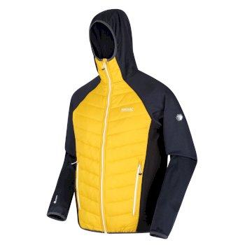 Men's Andreson V Hybrid Insulated Quilted Hooded Walking Jacket Grapefruit Black