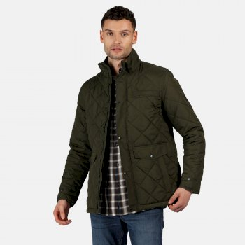 Men's Locke Insulated Diamond Quilted Jacket Dark Khaki
