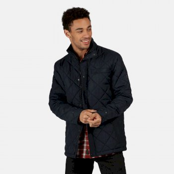 Men's Locke Insulated Diamond Quilted Jacket Navy