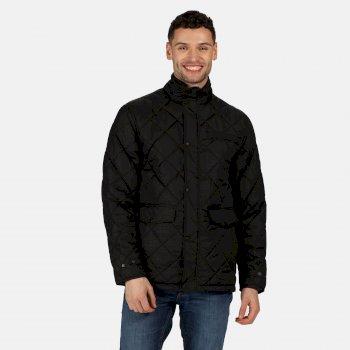Men's Locke Insulated Diamond Quilted Jacket Black