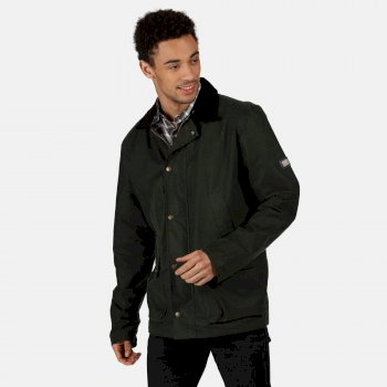 Men's Country Water Repellent Wax Jacket Dark Khaki
