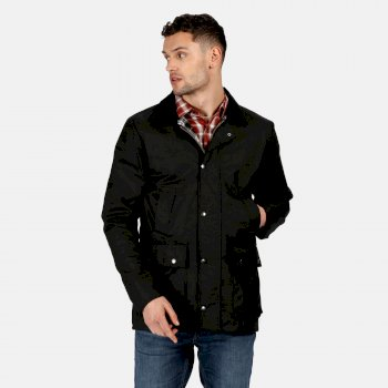 Men's Country Water Repellent Wax Jacket Black