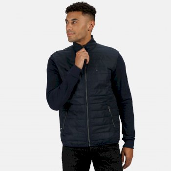 Men's Zaiden Baffle Quilted Insulated Jacket Navy