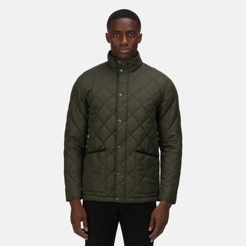 Men's Londyn Quilted Insulated Jacket Dark Khaki
