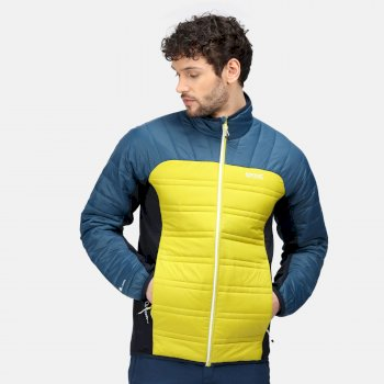 Men's Halton V Insulated Quilted Jacket Dark Tang Moonlight Denim