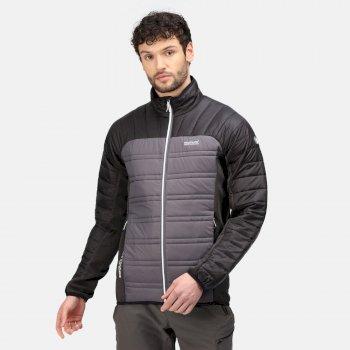 Men's Halton V Insulated Quilted Jacket Rhino Black Ash