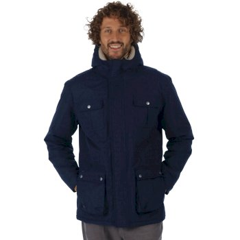 Penley Waterproof Insulated Parka Jacket Navy
