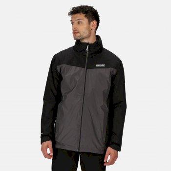 Men's Telmar III Waterproof 3 in 1 Jacket Black Magnet Grey