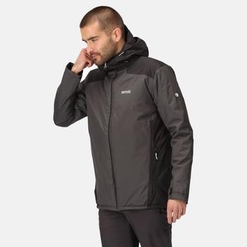 Men's Thornridge II Waterproof Insulated Hiking Jacket Ash Black