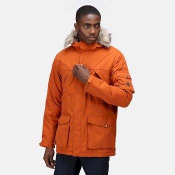 Men's Salinger II Waterproof Insulated Parka Jacket Burnt Umber