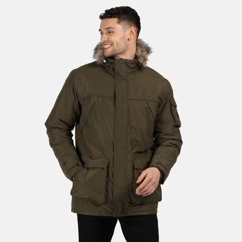 Men's Salinger II Waterproof Insulated Parka Jacket Dark Khaki