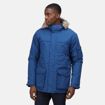 Men's Salinger II Waterproof Insulated Parka Jacket Aviator Blue