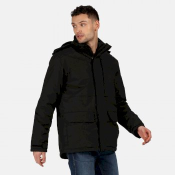 Men's Penryn Waterproof Insulated Hooded Jacket Black
