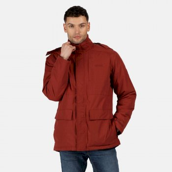Men's Penryn Waterproof Insulated Hooded Jacket Spiced Apple