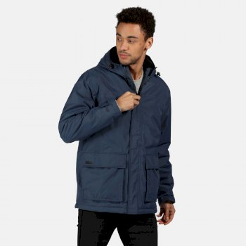 Men's Sterlings II Waterproof Insulated Hooded Jacket Dark Denim