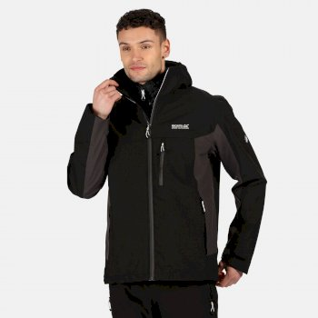 Men's Wentwood V 3 In 1 Waterproof Insulated Hooded Walking Jacket Black Ash
