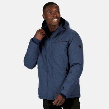 Men's Volter Shield II Waterproof Insulated Hooded Heated Walking Jacket Brunswick Blue