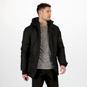 Men's Stypher Waterproof Insulated Hooded Walking Jacket Black