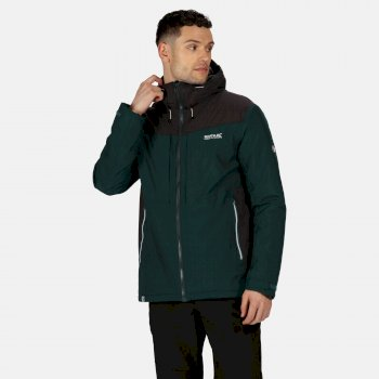 Men's Highton Stretch Waterproof Insulated Padded Hooded Walking Jacket Deep Pine Ash