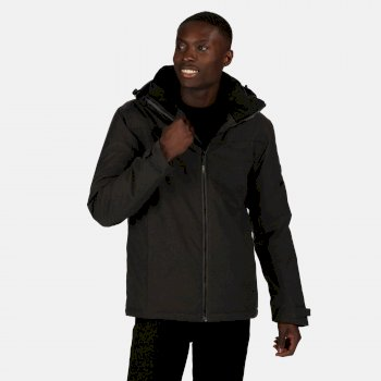 Men's Highside Waterproof Insulated Hooded Walking Jacket Ash