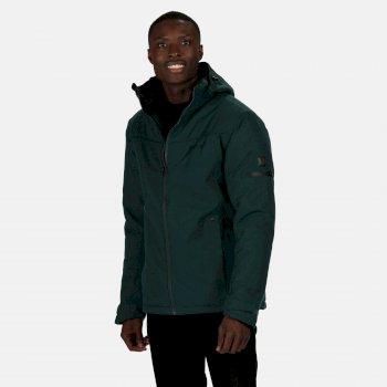 Men's Highside Waterproof Insulated Hooded Walking Jacket Deep Pine