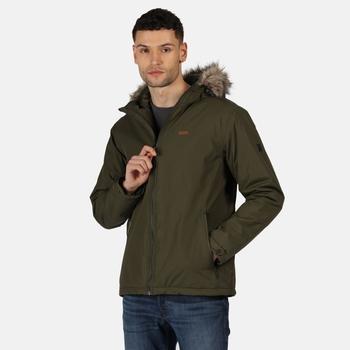 Men's Haig Waterproof Insulated Jacket Dark Khaki