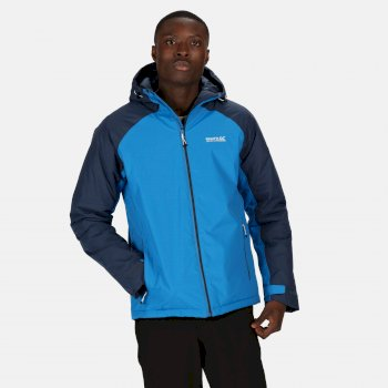 Men's Volter Protect Waterproof Insulated Hooded Heated Walking Jacket Imperial Blue Nightfall Navy