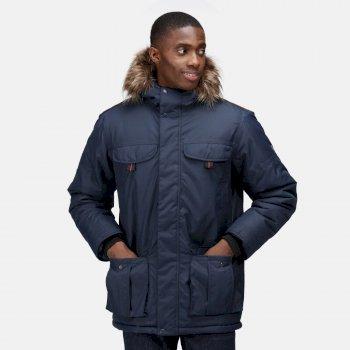 Men's Aarav Waterproof Insulated Parka Jacket Navy