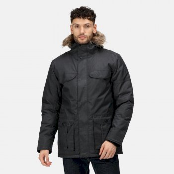 Men's Aarav Waterproof Insulated Parka Jacket Rhino Marl