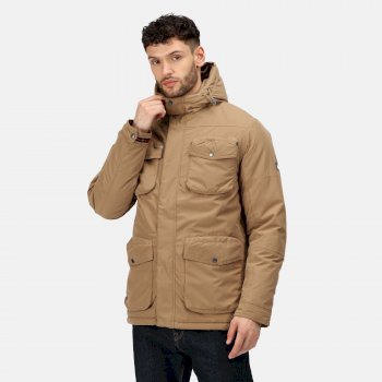 Men's Ronan Waterproof Insulated Parka Jacket Dark Camel