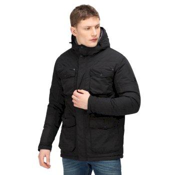 Men's Ronan Waterproof Insulated Parka Jacket Black