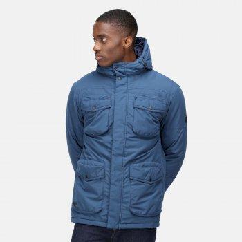Men's Ronan Waterproof Insulated Parka Jacket Dark Denim