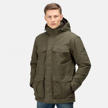 Men's Palben Waterproof Insulated Parka Jacket Dark Khaki