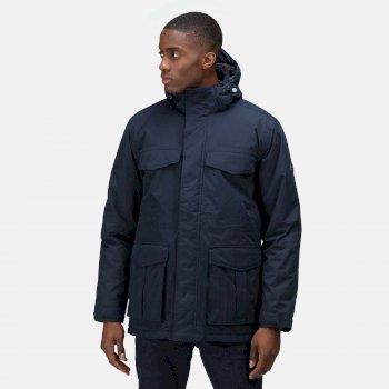 Men's Palben Waterproof Insulated Parka Jacket Navy