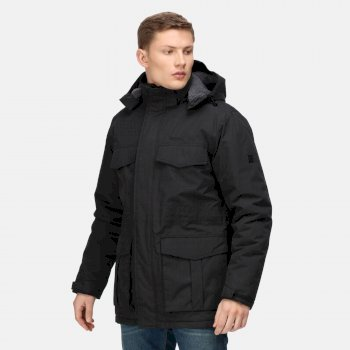 Men's Palben Waterproof Insulated Parka Jacket Black