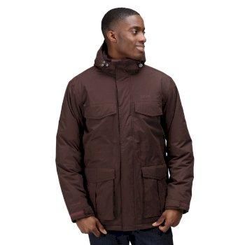 Men's Palben Waterproof Insulated Parka Jacket Bourbon