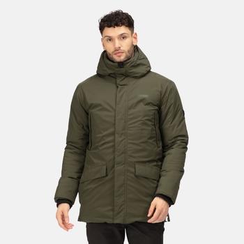 Men's Yewbank Waterproof Insulated Parka Jacket Dark Khaki