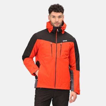Men's Highton Stretch II Waterproof Insulated Jacket Cajun Orange Black Rhino