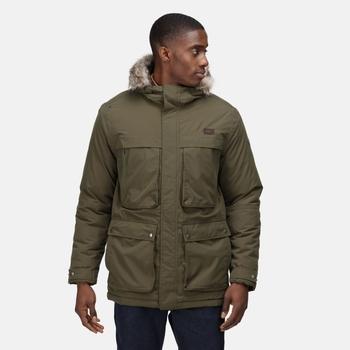Men's Volter Waterproof Insulated Parka Jacket Dark Khaki