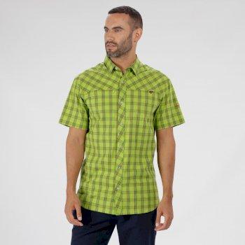 Honshu III Checked Shirt Lime Green
