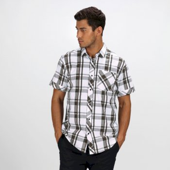 Men's Deakin III Short Sleeve Checked Shirt Grape Leaf