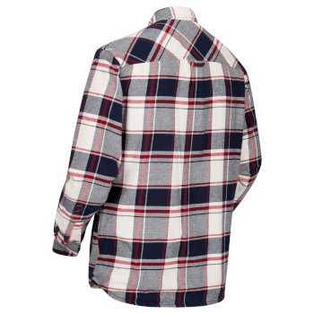 Men's Tygo Long Sleeved Checked Lined Shirt Navy