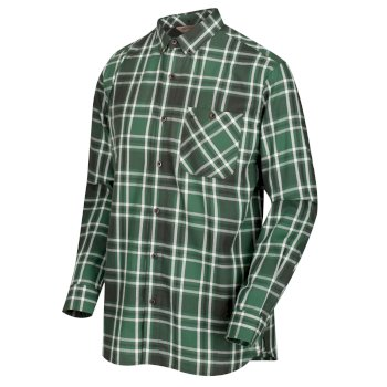 Men's Lazare Long Sleeved Checked Shirt Bayleaf