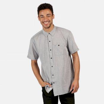 Men's Damari Coolweave Short Sleeve Shirt Seal Grey